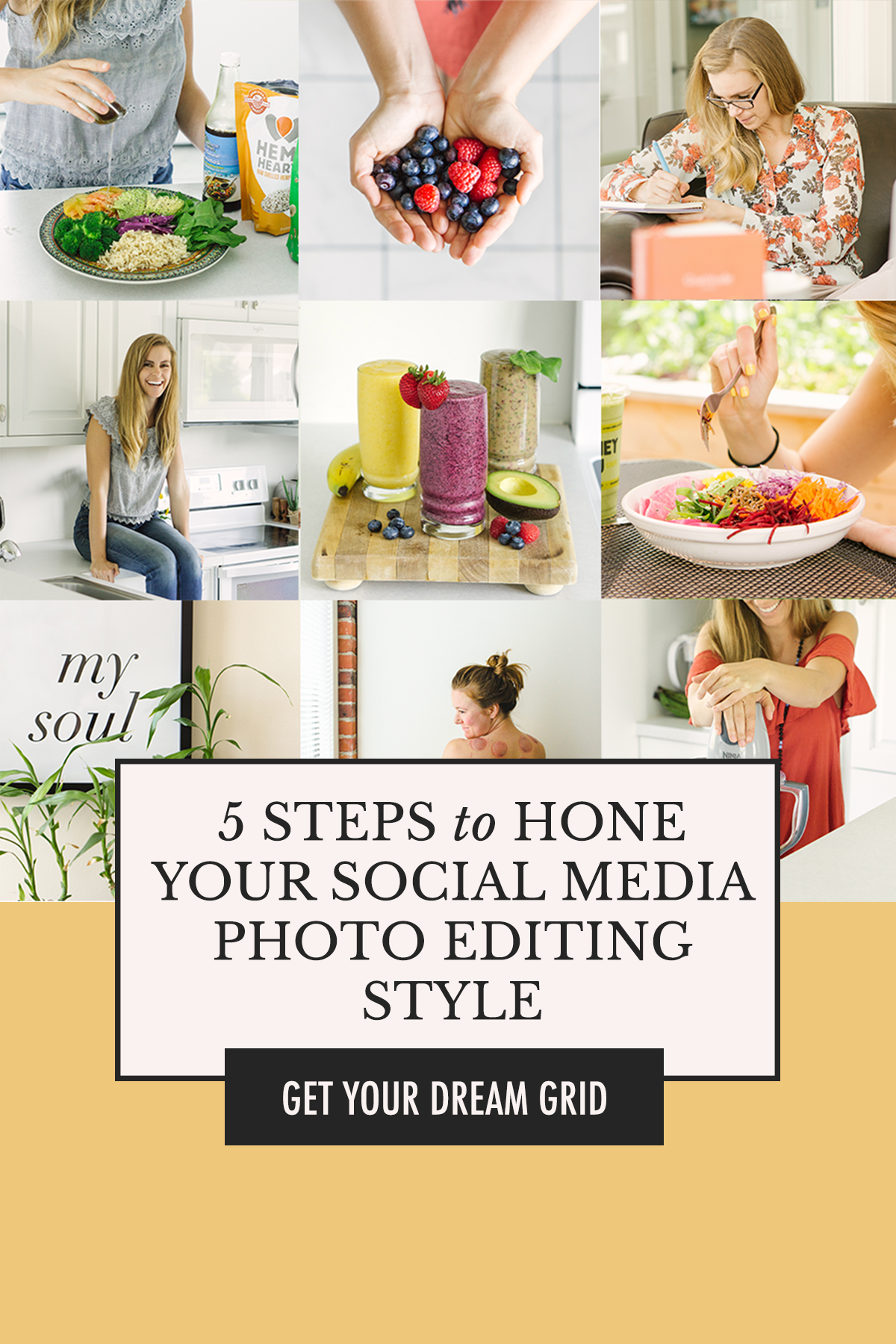 Develop your brand aesthetic for social media and plan your Instagram grid like a pro! | 5 Steps to Hone Your Social Media Photo Editing Style with Alexis The Greek