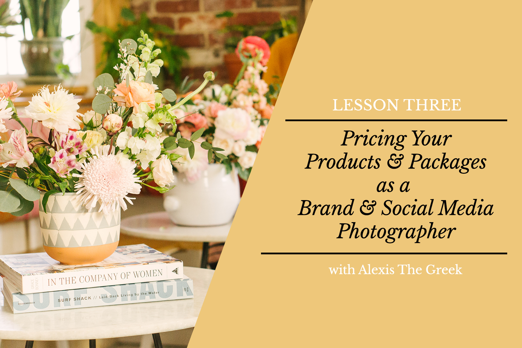 Social Media Photography & Photo Styling Business Course   Alexis The Greek