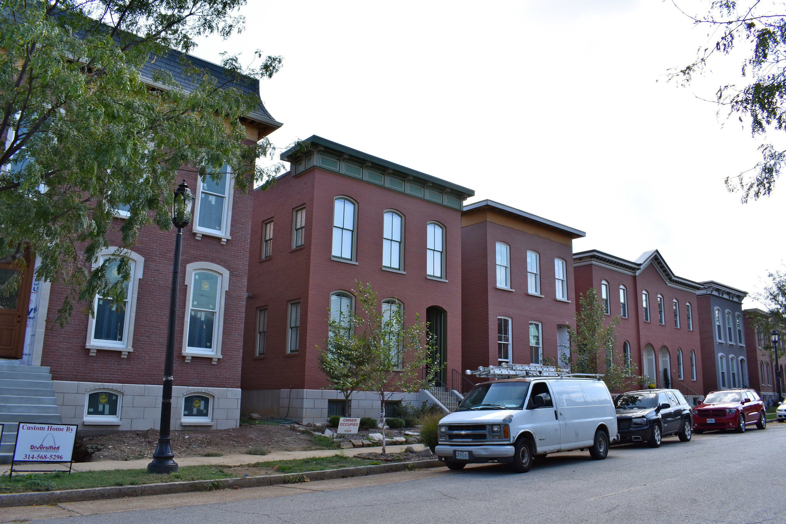 New homes on Dolman Street in Lafayette Square