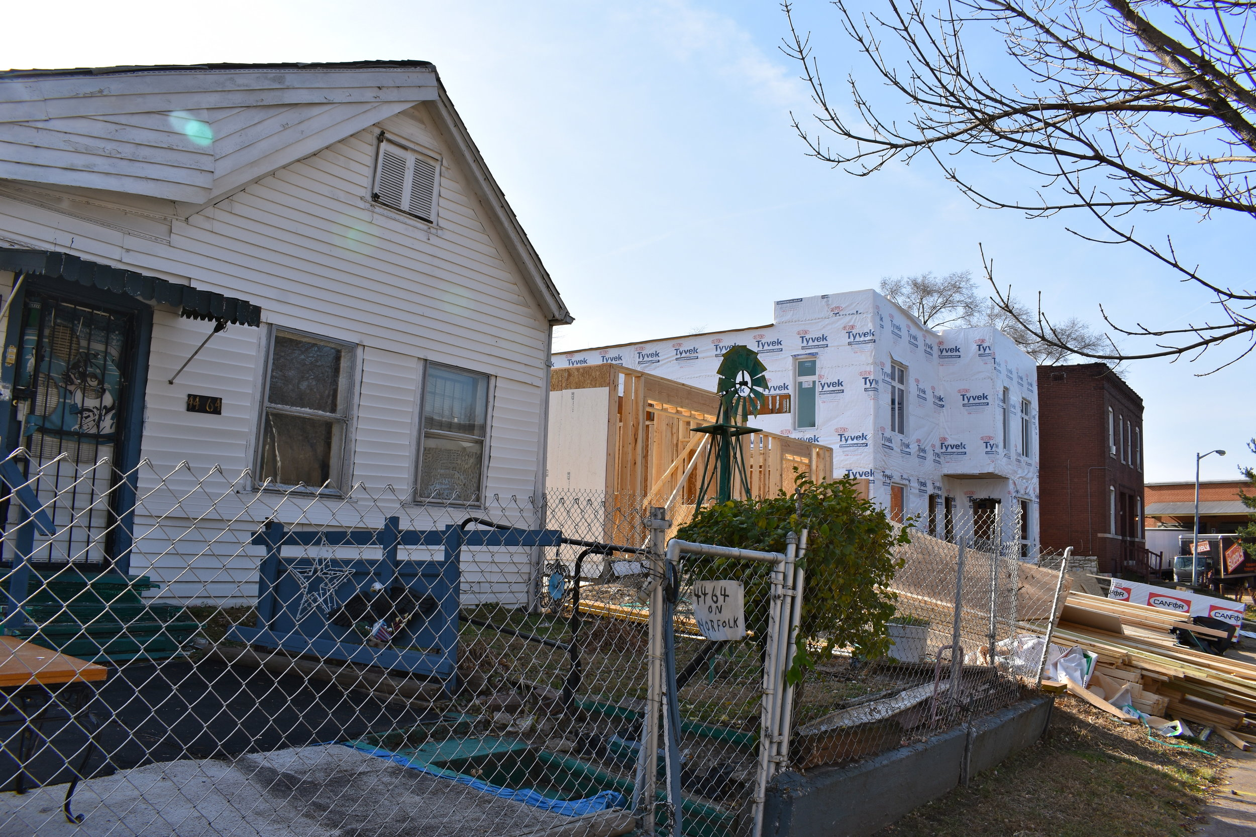 4400 Block of Norfolk Avenue - During Construction