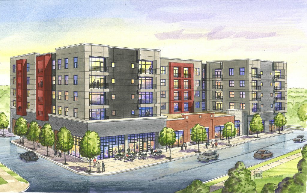 "Developer rendering for ""Hibernia"" at 6300 Clayton Avenue"