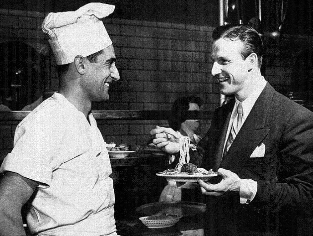 1951 photo - Musial on the right, Chef Marie Ravetta on the left