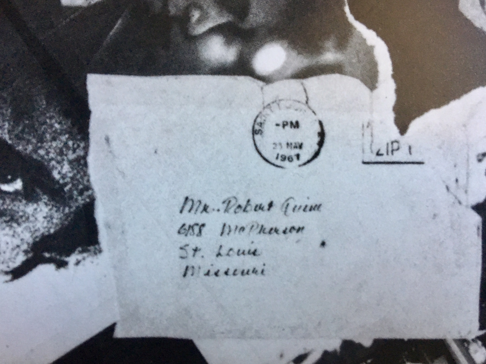 Image of May 23, 1967 Envelope -Inset of 'Blank Generation'