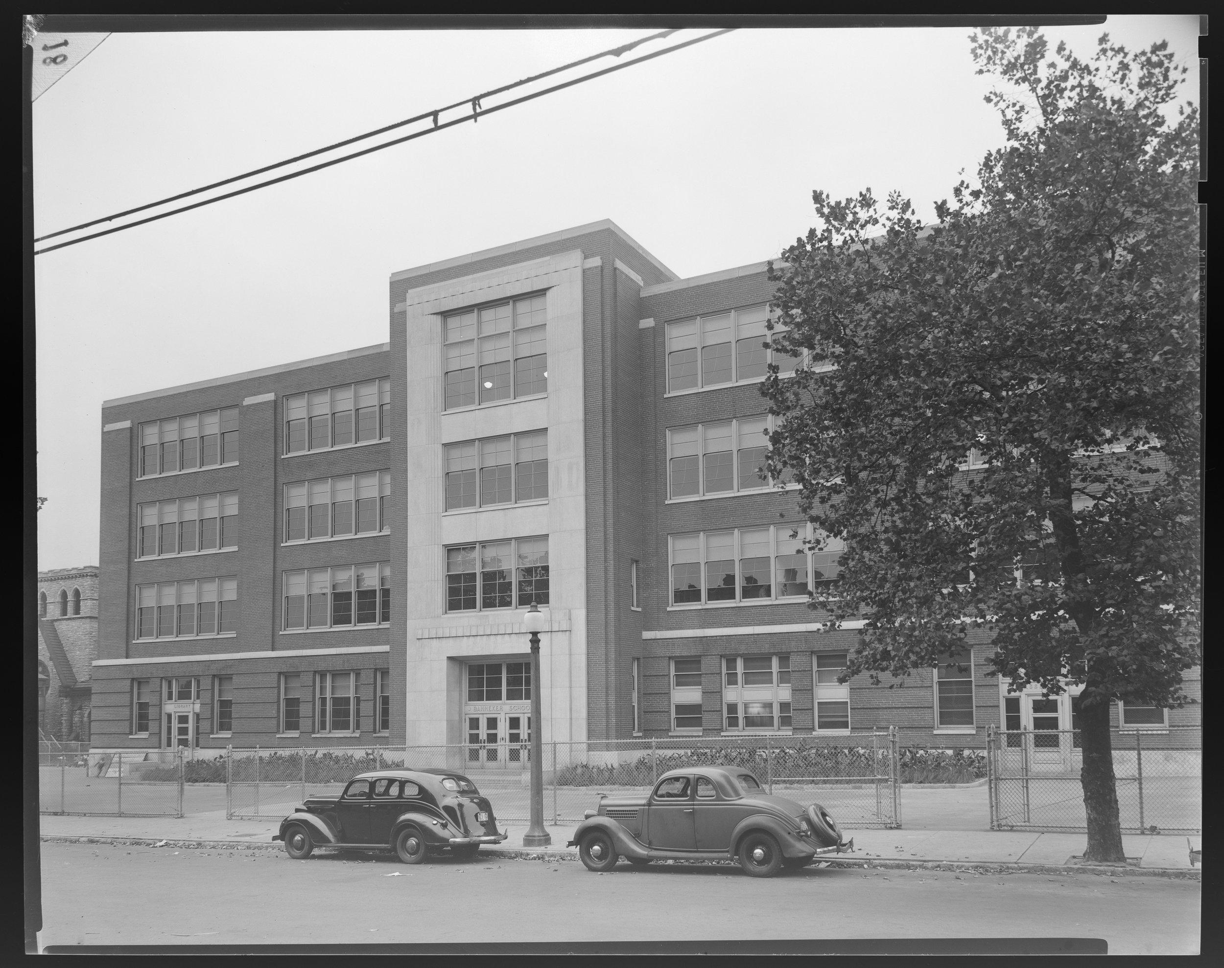Bannaker School Photo Source -  Missouri Historical Society  (ca. 1940)