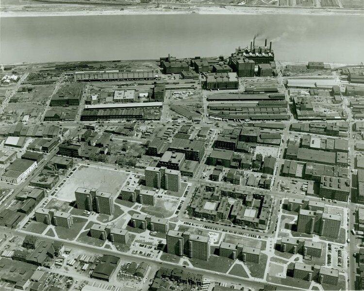 Columbus Square Circa 1953 - Photo Source -  Missouri Historical Society