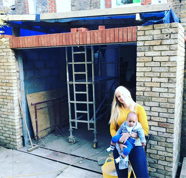 Zach signing off the structural works for the ground floor extension #jf_projects #construction #structure #structuralengineering #architecture #babyboy #extensions #home #london #jonathanfashanudotcom www.jonathanfashanu.com