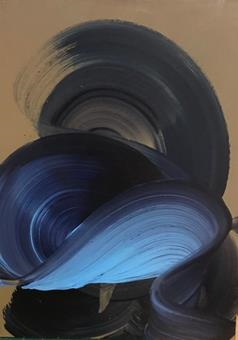 Title: Blue Swirl Artist: Dragica Carlin Website:  https://www.dragicacarlin.com/  Year Created: 2017 Materials: Oil in wood Size: 52 cm x 38 cm  Usual RRP £300