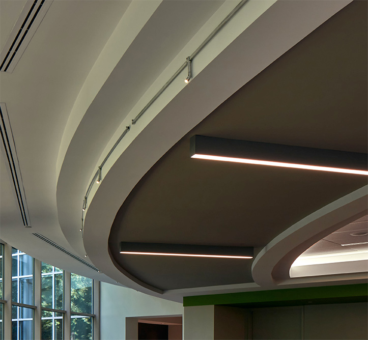 curved cafe ceiling