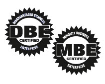 DBE & MBE minority certification icons