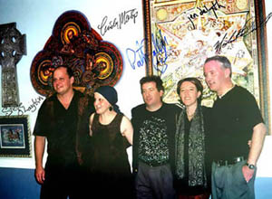 Steve O'Loughlin, Cindy Matyi, Patrick Gallagher, Jen Delyth and Michael Carroll, at American Celtic exhibition opening reception in 2000.
