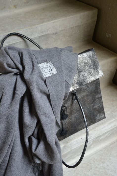 Ash Grey Cashmere Scarf  - Inquire