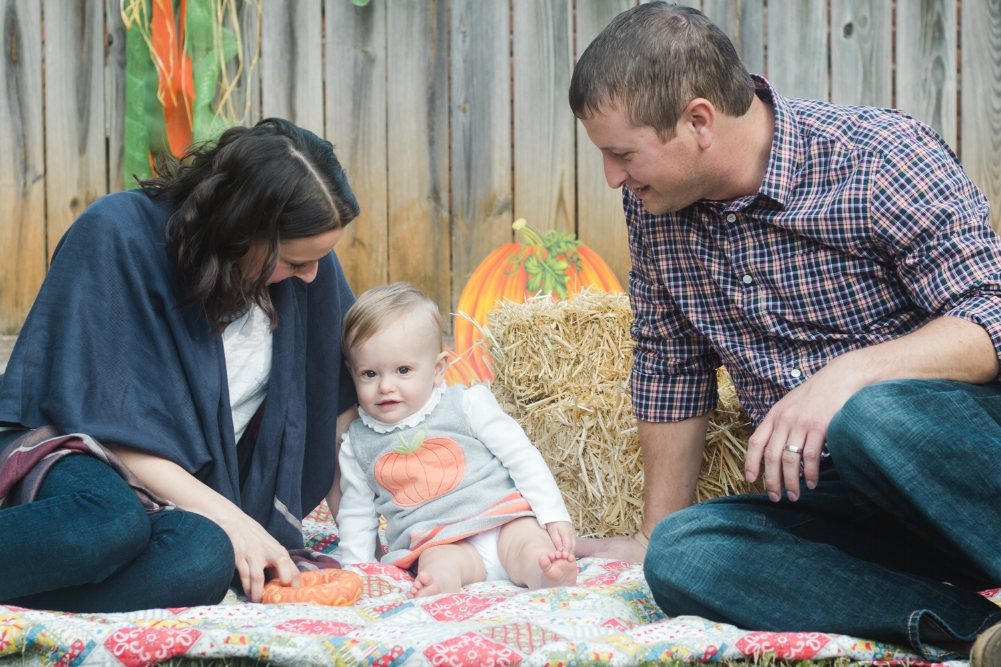 Indianapolis Milestone Photography - Baby Girl With Family