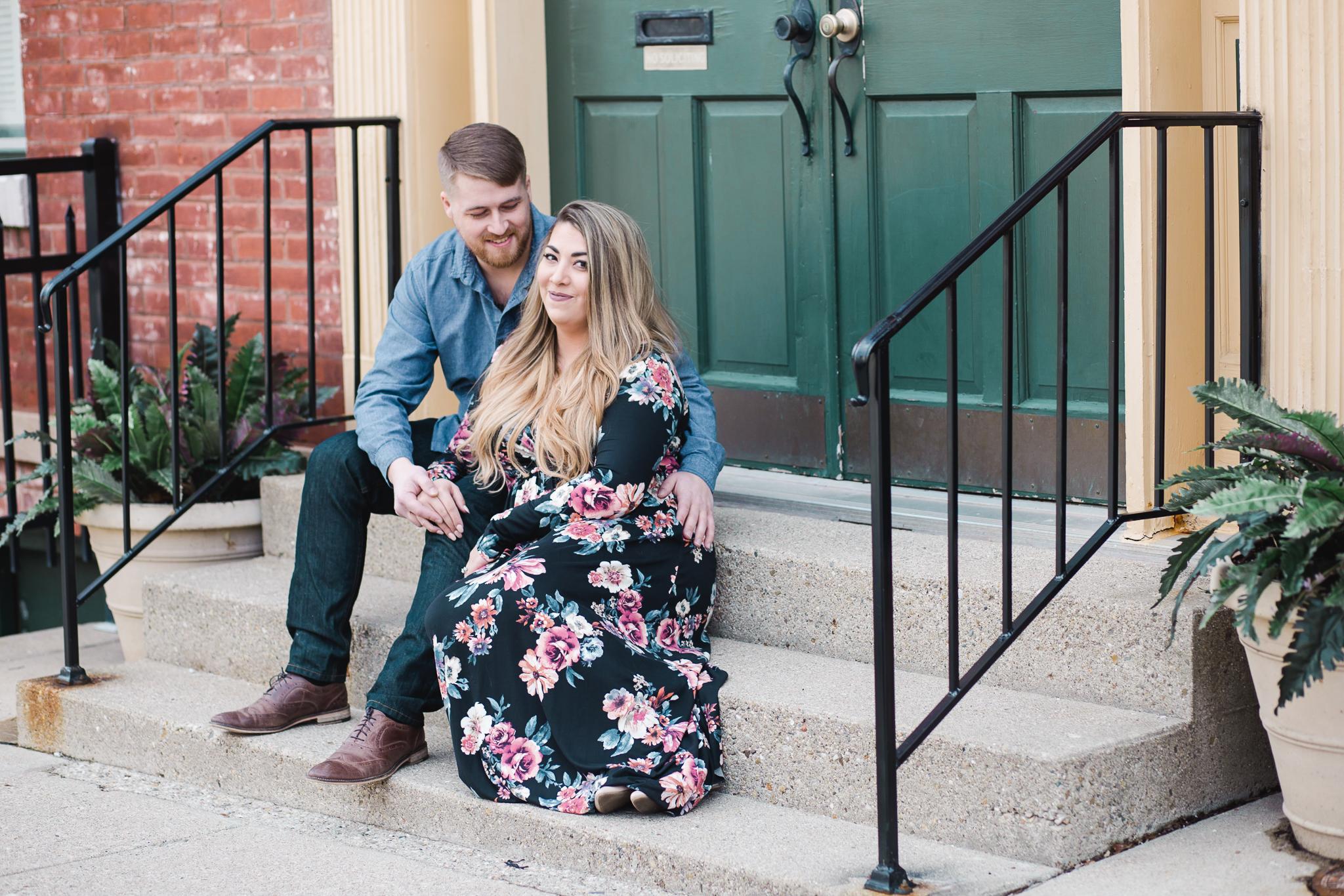 Downtown Indianapolis Engagement Couple