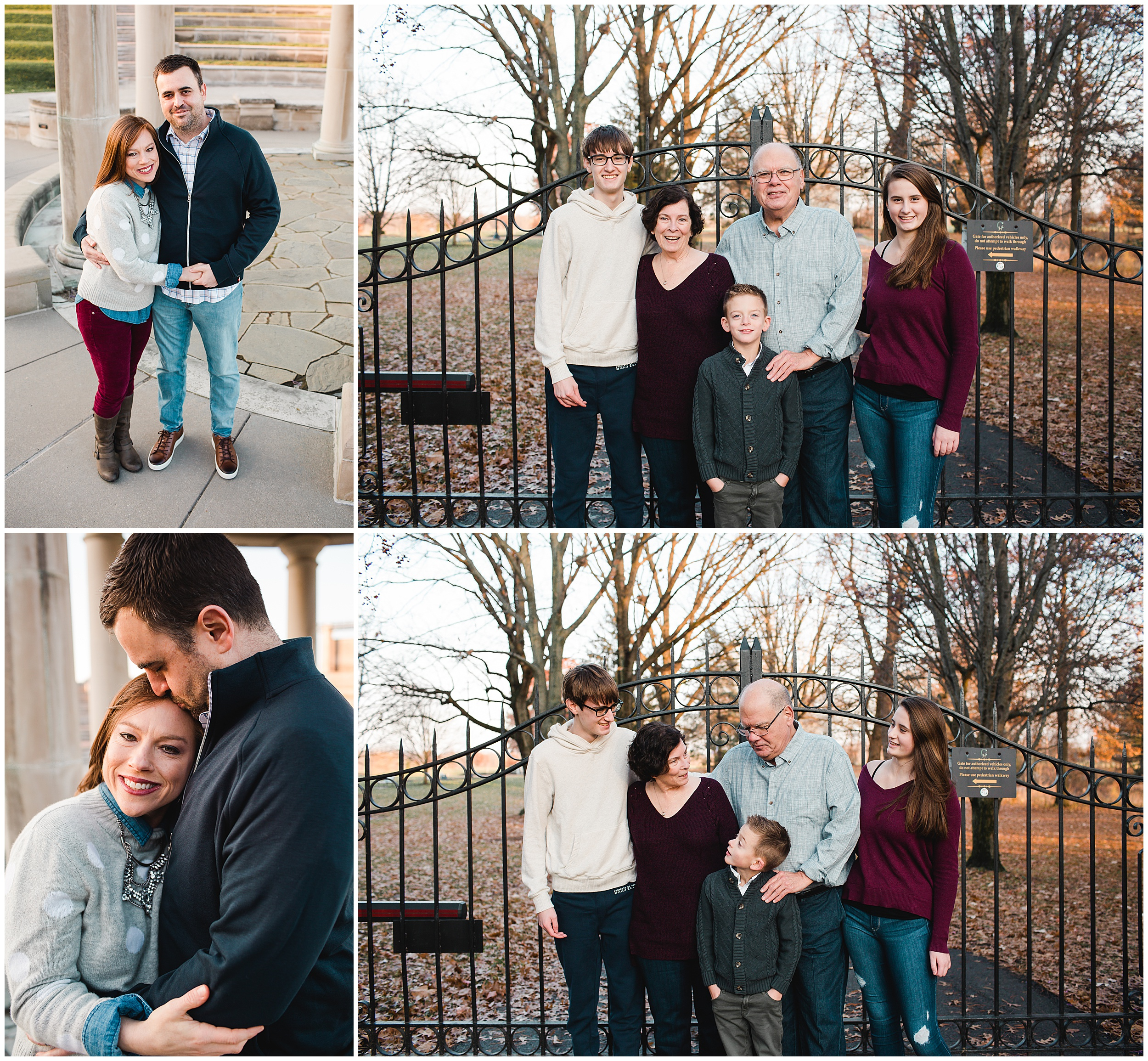 Indianapolis Extended Family Photographer at Coxhall Gardens in Carmel Indiana