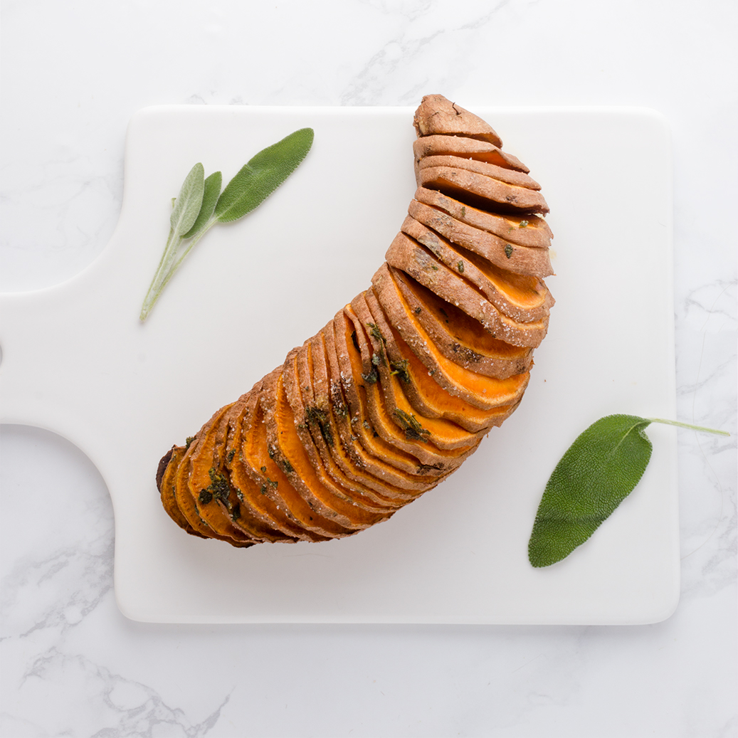 Crispy on the outside but creamy on the inside, Hasselback Sweet Potatoes give you the best of both worlds.