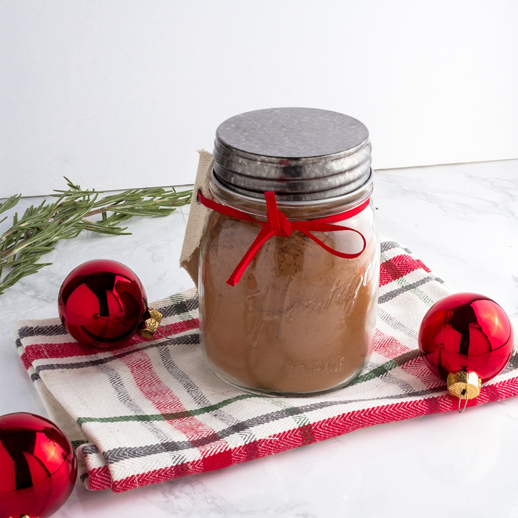 Festive and delicious, this Healthier Hot Cocoa Mix will be a welcome treat for your party host.