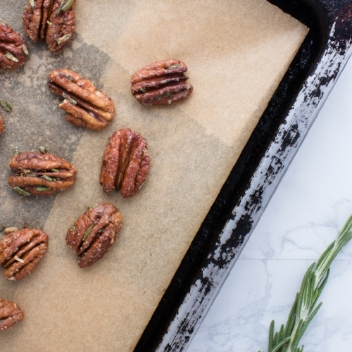 Spiced or candied nuts like these Maple Glazed Rosemary Pecans are perfect for the host who always likes to be prepared for guests.