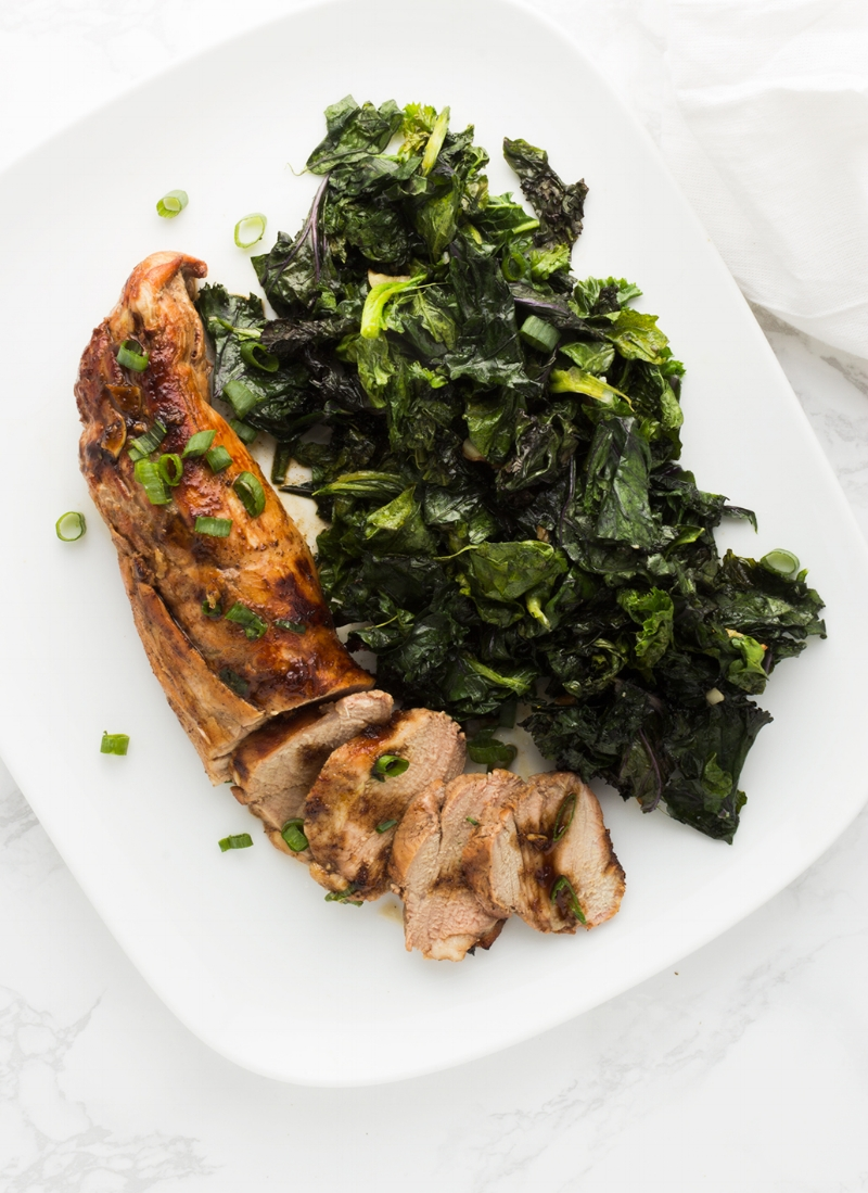 Well-plated: This Orange Ginger Pork Tenderloin needs little more than some sautéd greens to create a perfect meal.