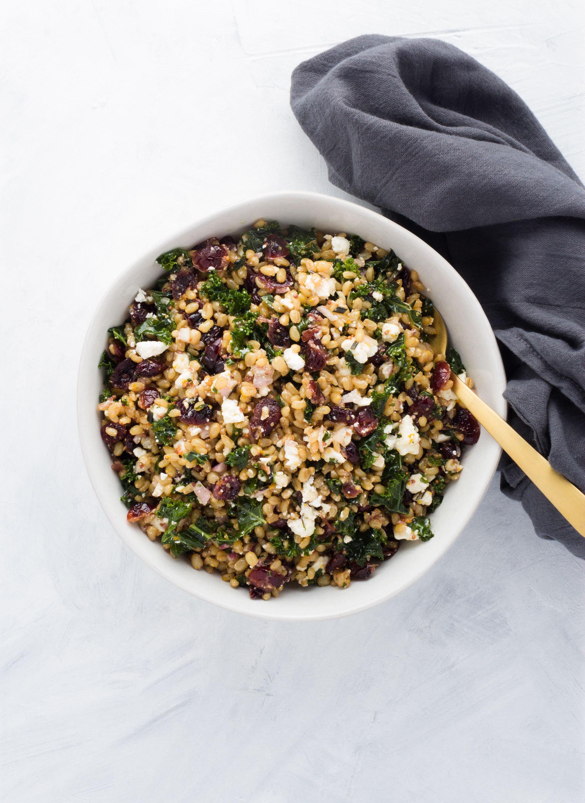 This Autumn Wheat Berry Salad features hearty wheat berries which provide a chewy and nutty texture.