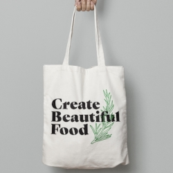 Create Beautiful Food Tote   Perfect for your market loving friend, this 100% cotton toe is durable & stylish.