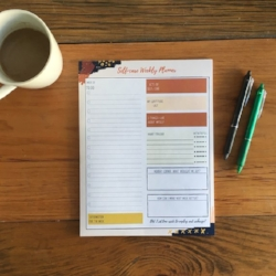 The Salvaged Sawhorse Self-Care Weekly Planner   I love including this planner as part of my weekly & daily journaling. Best part is it emphasizes living a whole life instead of just being productive which is true self-care!