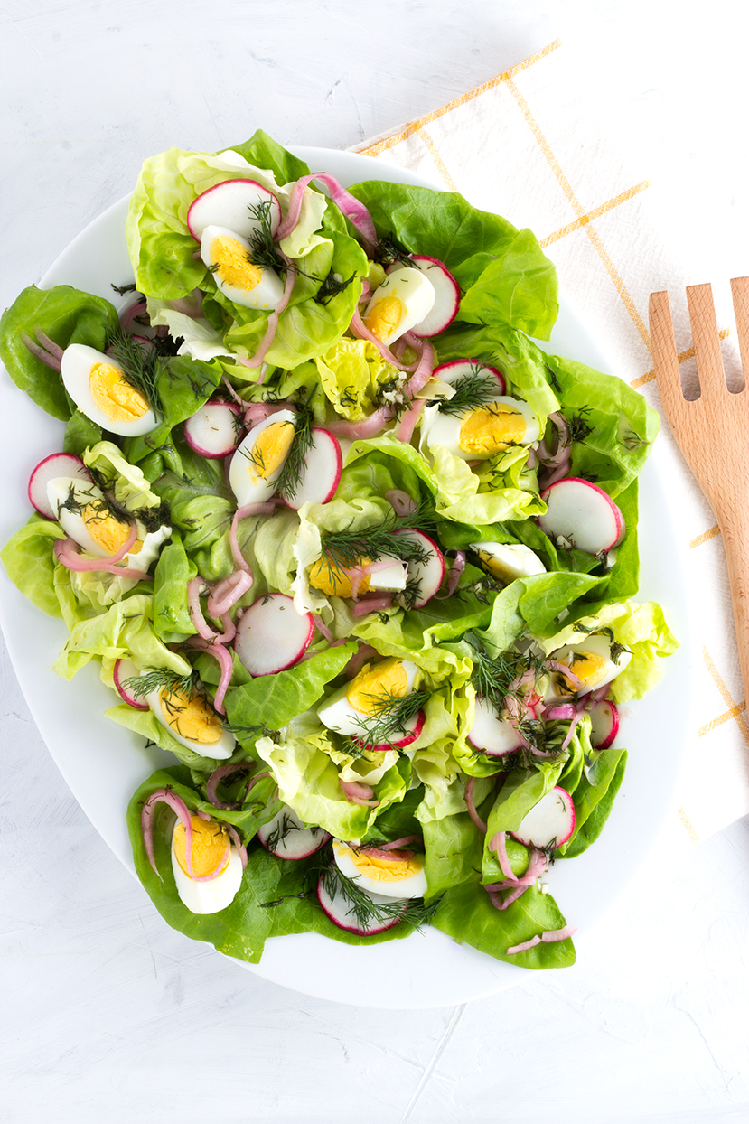 Light yet satisfying, this Bibb lettuce Salad with Dill Vinaigrette is perfect for the warmer days ahead.