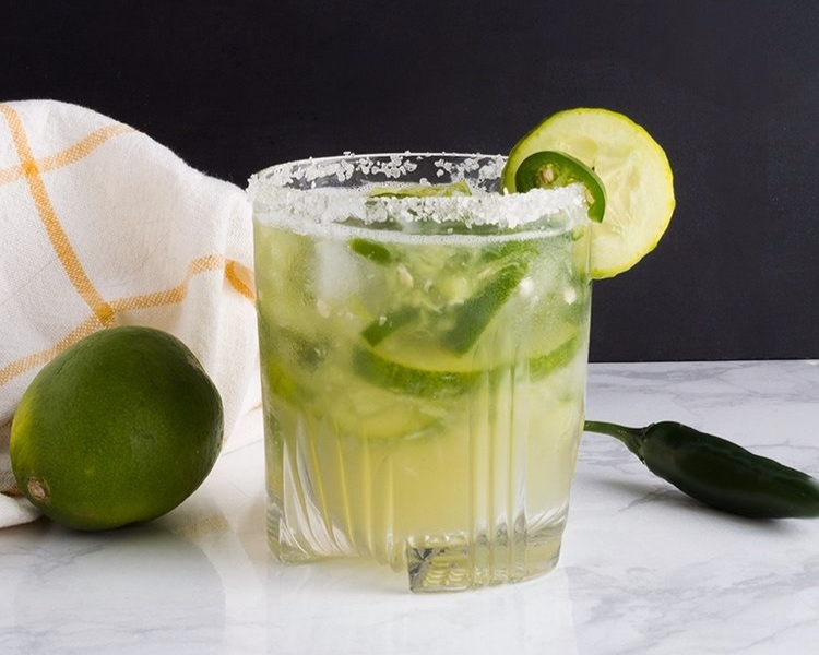 Add a little spice to your next summer party with these margaritas.