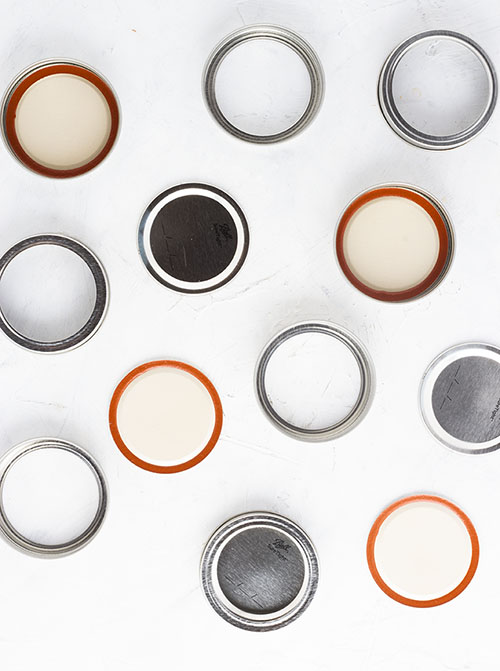 While you can reuse canning jars & bands year after year, you must replace the lids in order to make sure the jars seal properly.