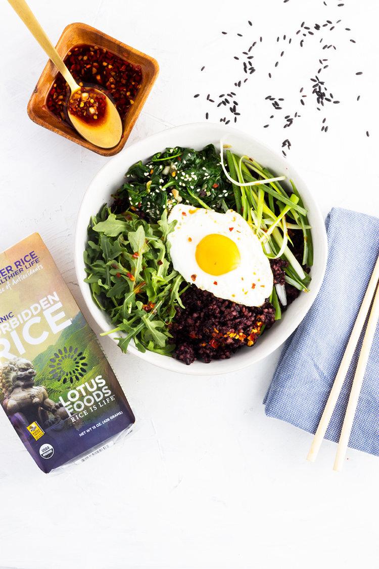 Lotus Foods: Spring Greens Bibimbap Bowls