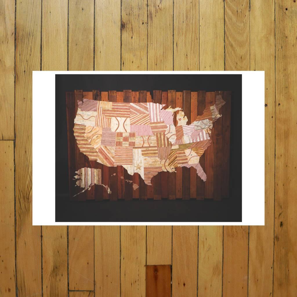 AMERICA AT THE SEAMS PRINT OF ARTWORK