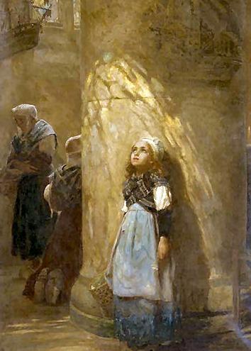 Herbert James Draper (1863-1920) - The Golden Rays