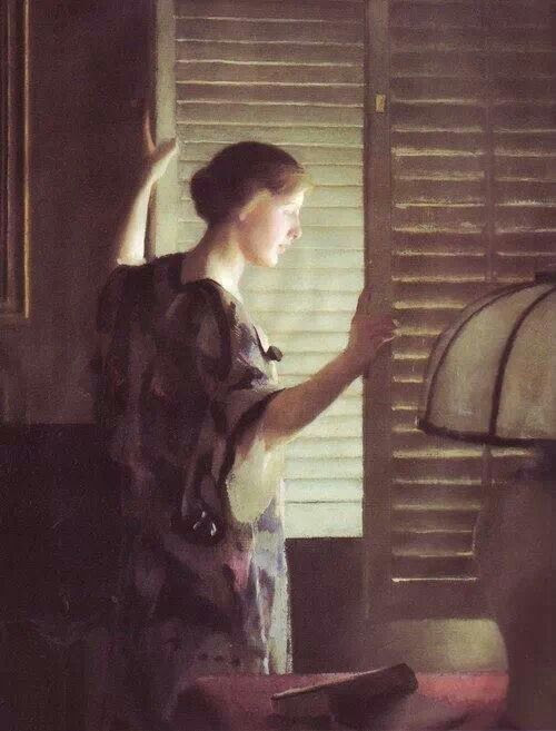 Morning Light  ~ William MacGregor Paxton (1869-1941)