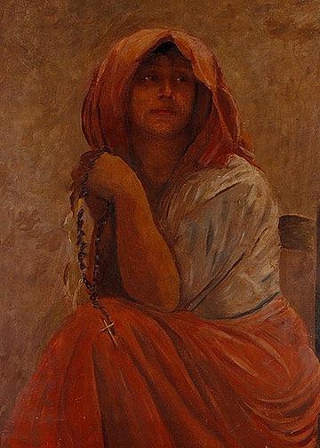 Peasant Woman with Rosary - Edmond De Pury, Venice, 1909