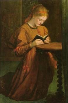 Portrait of woman praying  – Ellen Jowett (1874)