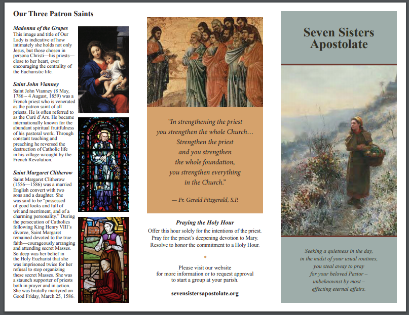graphic about Printable Prayer to St. Joseph called Prayers Booklet 7 Sisters Apostolate