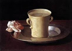 Francisco Zurbaran -  A Cup of Water and a Rose,  1633