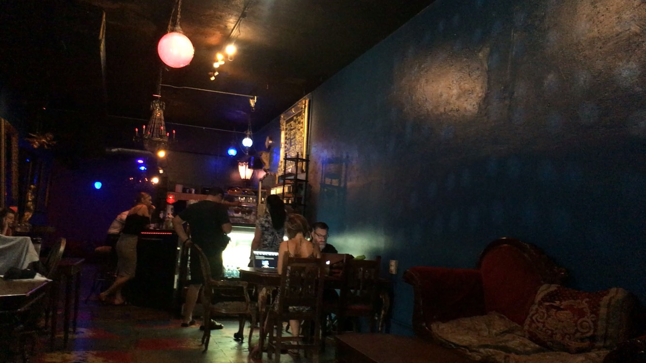Dive bar ambience at Bourgeois Pig