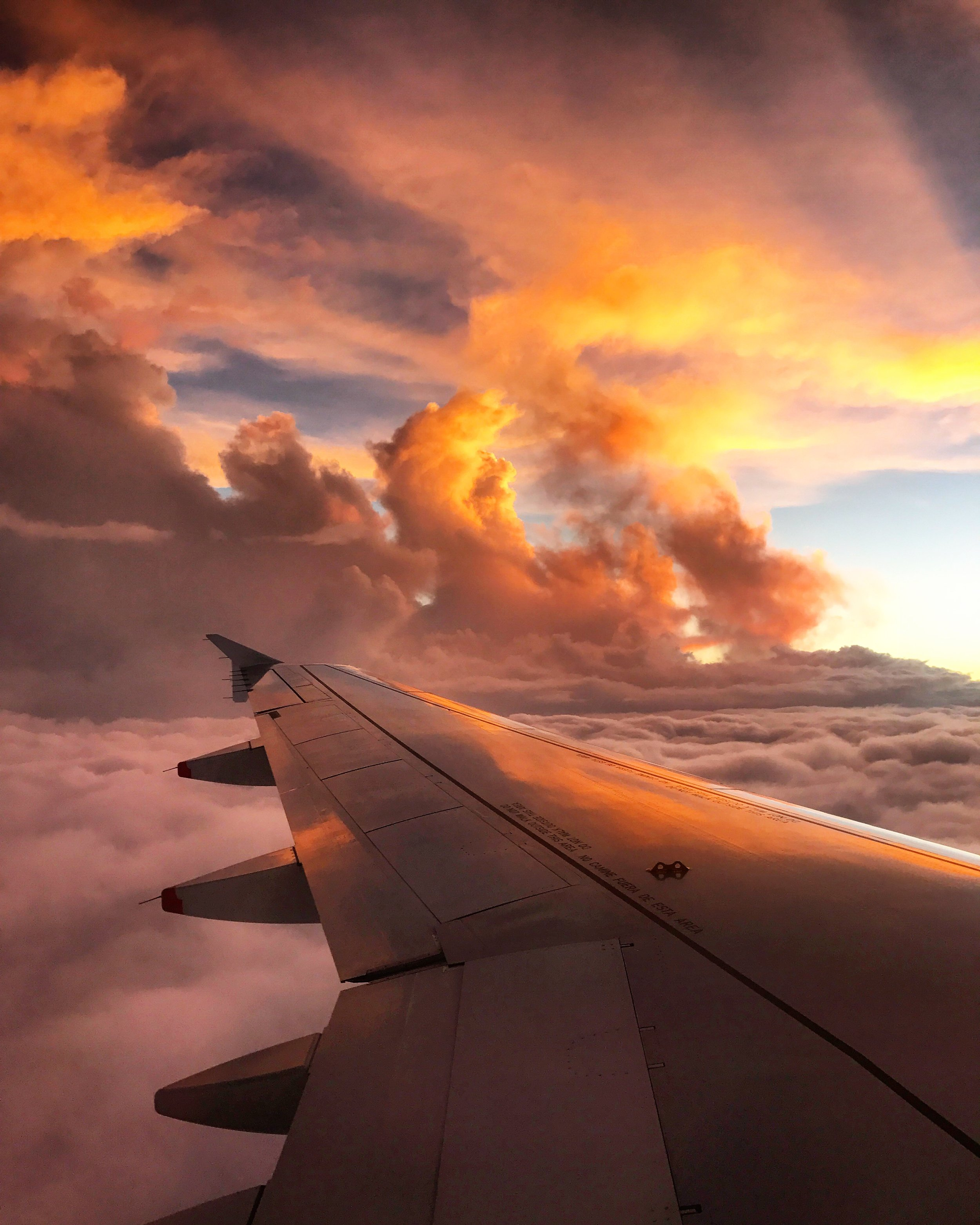Beautiful sunset on our flight home