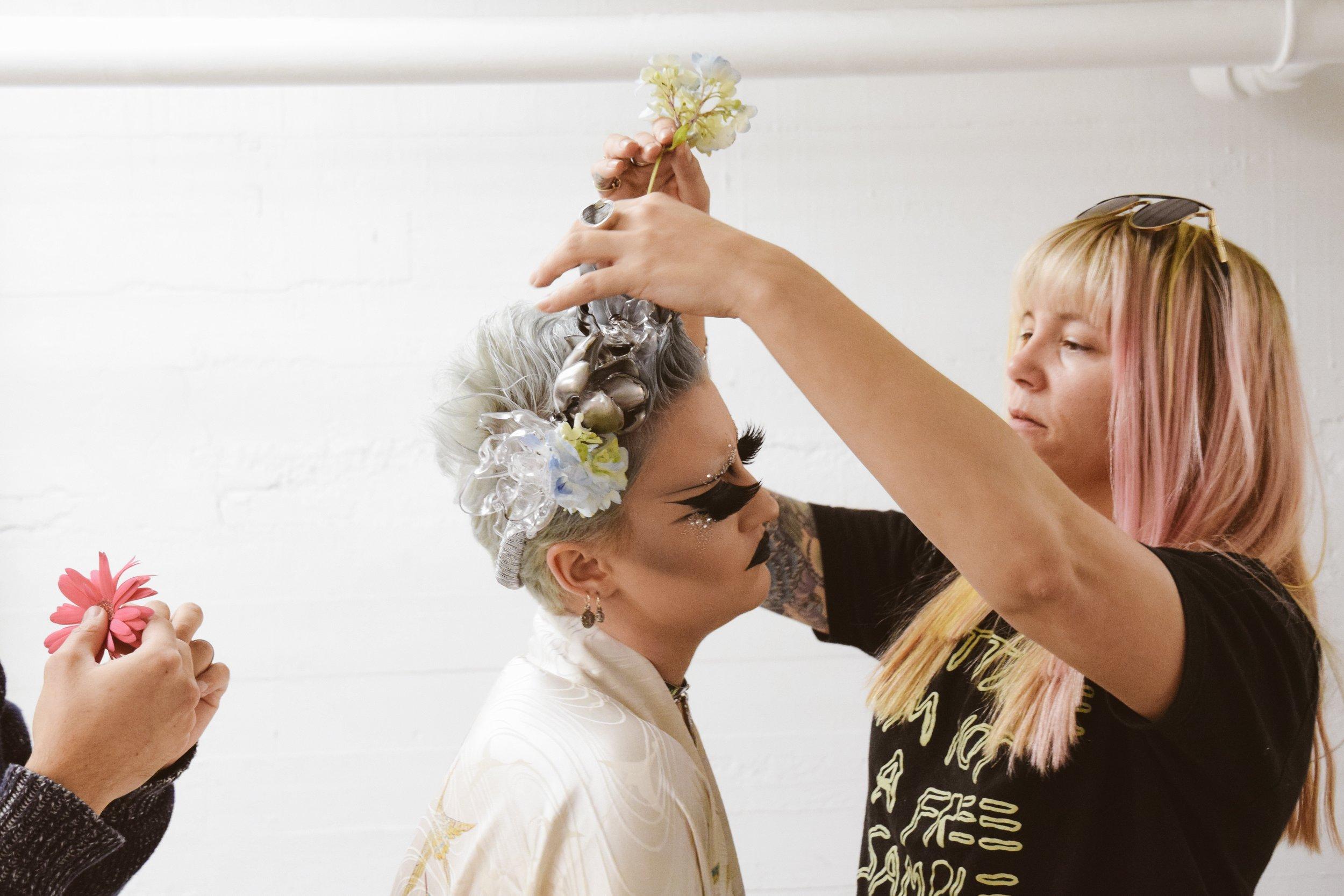 Landra Dulin styling Mikayla Gottleib for her shot