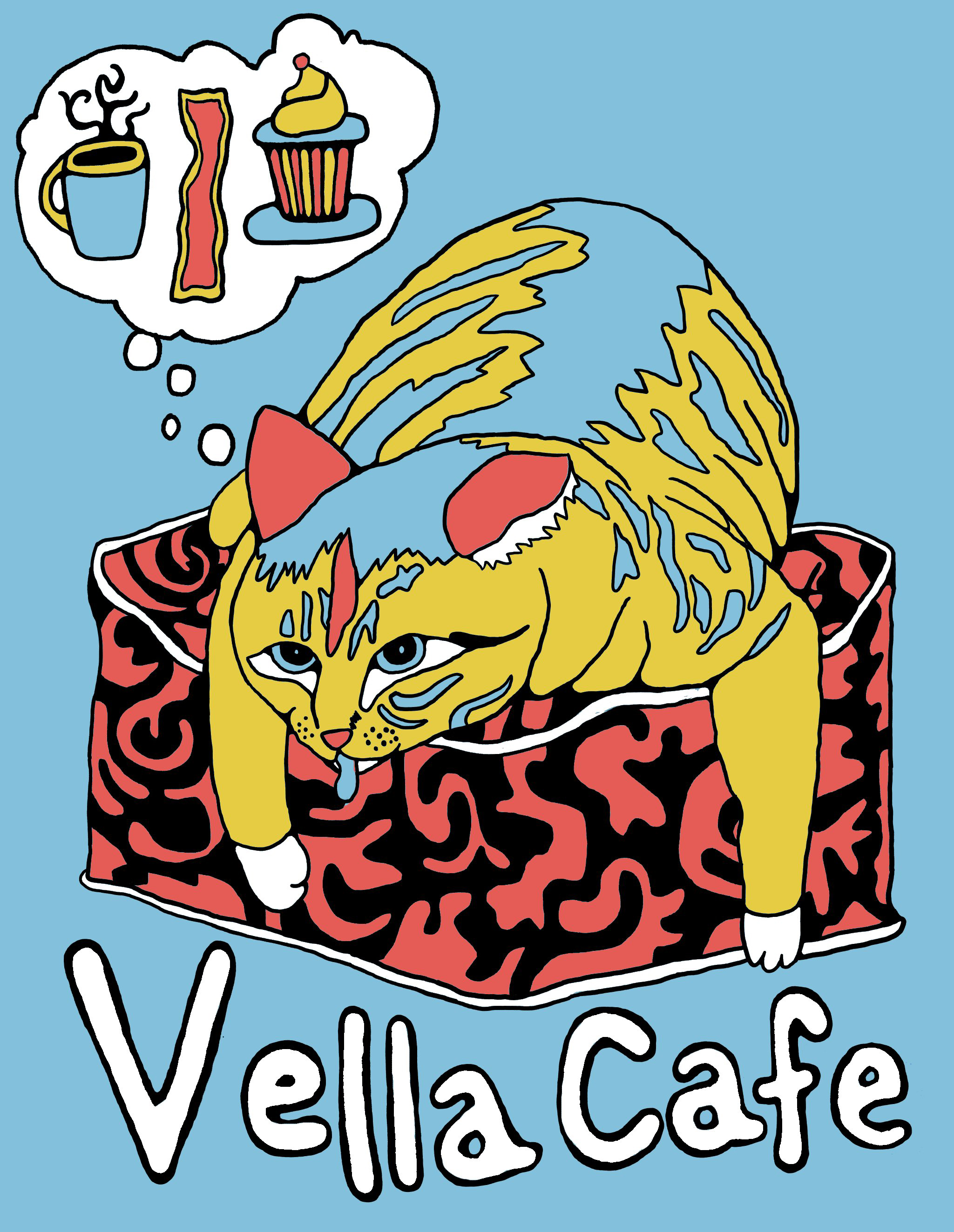 Vella Cafe T-Shirt Design