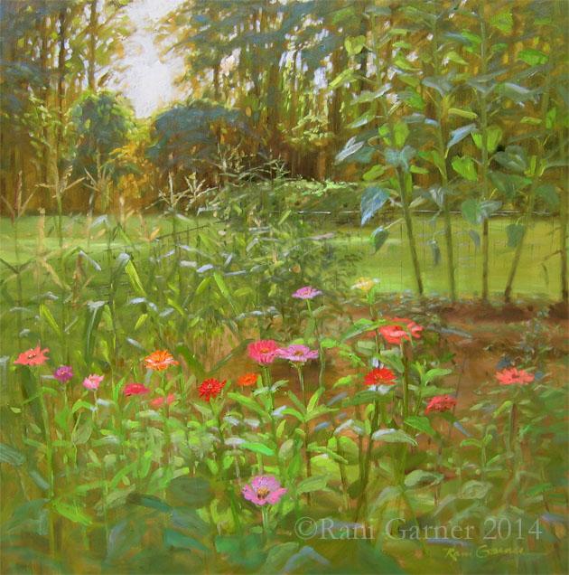 June Garden 30x30