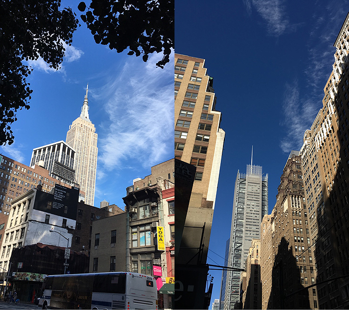 And these images capture the NYC feel. The Empire State building on the left and the New York Times building on the right. If you compare this image to the one just above it, it really embodies the vibe of each of the cities. I love the fact that I have full access to NYC in 25 mins! It's like living in the city, without paying the big city living costs!