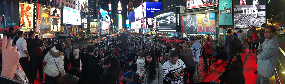 2016.11.19 - Time Square for you... a fresh panoramic photo of my favorite spot in the whole world!