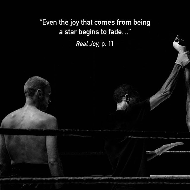 """Even the joy that comes from being a star begins to fade…  Since being special in sport is the only thing such athletes have going for them, winning becomes the focus of their life. If they don't perform well, they punish themselves emotionally. They tell themselves how no good they are for letting themselves """"mess-up"""" and become a loser. They learn to rely on this self-hatred to force themselves to train harder and longer until they become a winner again.  There is a better way…  #RealJoy"""
