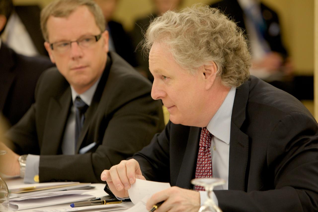 Saskatchewan Premier Brad Wall and Quebec Premier Jean Charest
