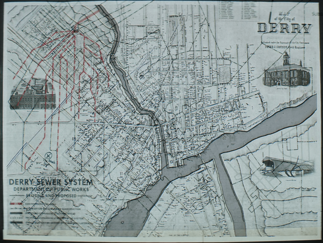 A map of the Derry Sewer System.