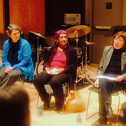 Jessica on a panel with pianists Bertha Hope and Toshiko Akiyoshi at Jazz at Lincoln Center