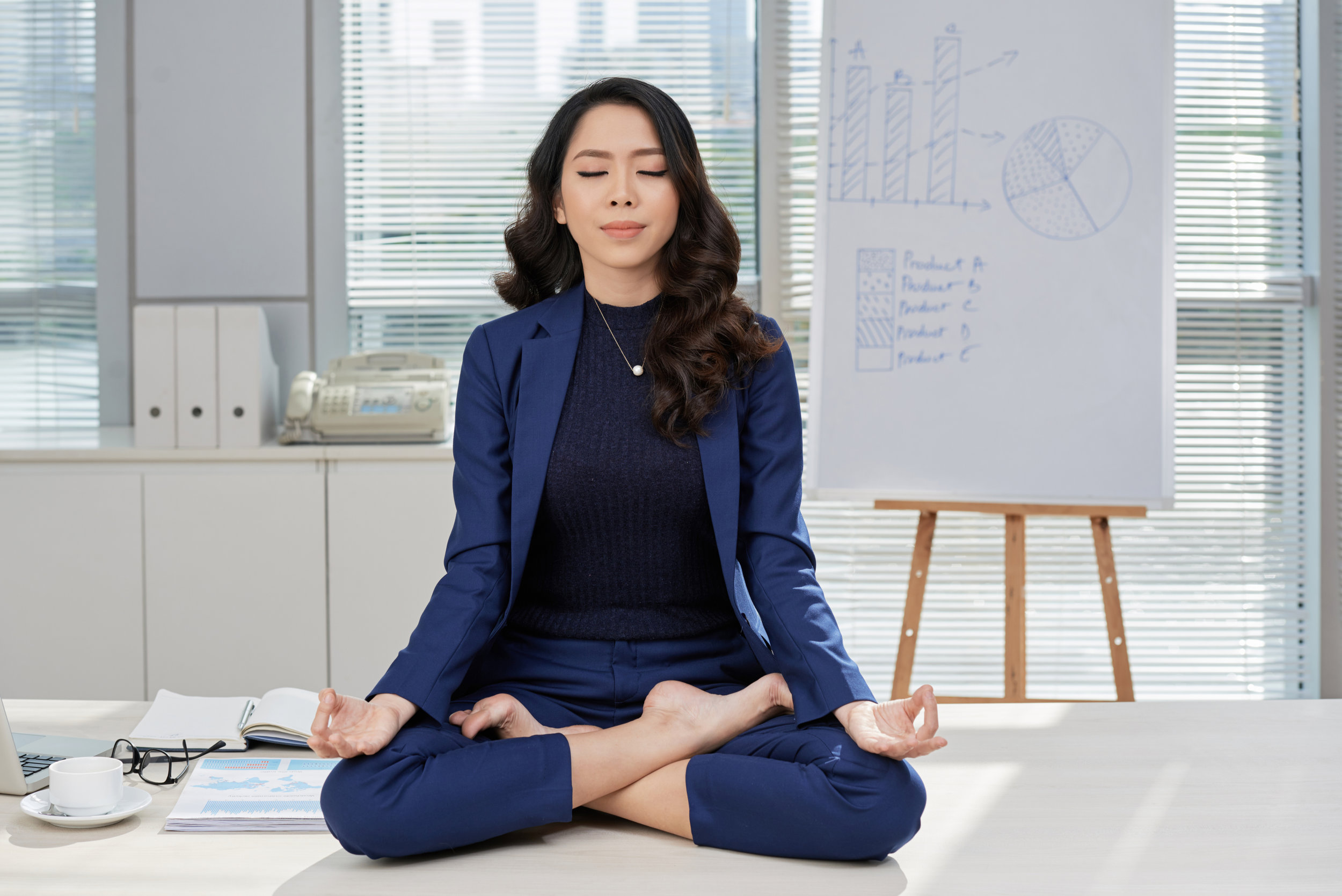 What is Meditation? - ● Practice of training attention to achieve a calmer, more sable mind● Formal, sitting, once or twice per day● Develops concentration● Continually returns attention back to an object of focus