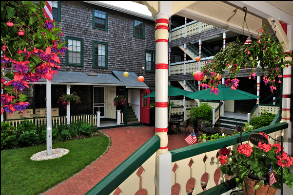 PEQUOT HOTEL--(OAK BLUFFS) (508) 693-5087     CLICK HERE    for reservations or call for room rates   Located 1 block from the beach, this historic seaside hotel is an 11-minute walk from the ferry dock and 6.4 miles from Martha's Vineyard Airport.  Quaint rooms feature private bathrooms; some have TVs. A 3-bedroom apartment-style suite offers a separate living area and a full kitchen.  Oak Bluffs Bus Shuttle to start: .25 miles Finish: .25 miles)