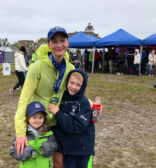 Martha's Vineyard Marathon was a fantastic first marathon experience. The mildly gloomy weather couldn't cloud the beautiful scenery and the volunteers were great. I was thrilled to beat my goal time which I owe to a fabulous pacer who got me to the finish line! Having my family with me for this Run-cation was perfect. See you next year!   Emily